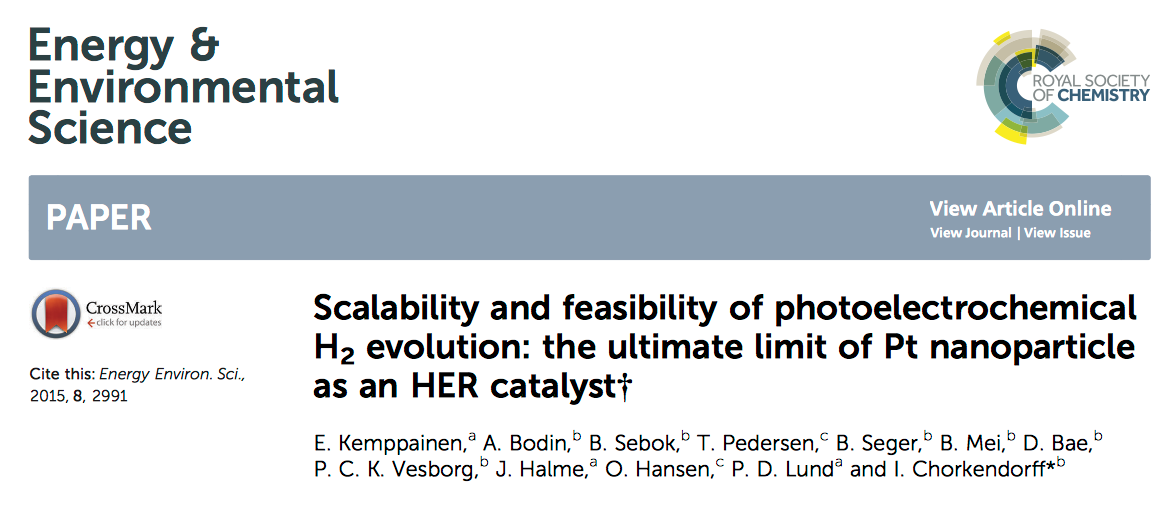 Pt nanoparticle as an HER catalyst