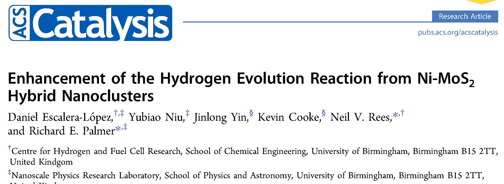 Hydrogen Evolution with Ni-MoS2 Nanoclusters